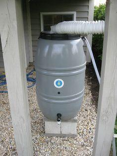 Refitting a Great American rain barrel with a new heavy duty spigot