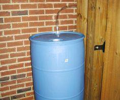 Easy Rain Barrel Plans