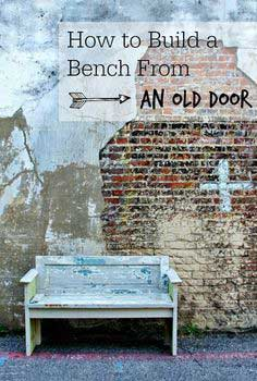 How to Build a Bench From a Door