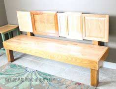 DIY Cabinet Door Bench - Do Small Things with Love