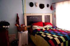 Old Door to Chalkboard Headboard