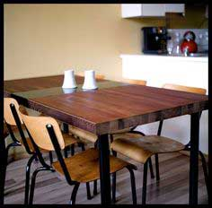 Tutorial - Dining Table Made from a Reclaimed Door