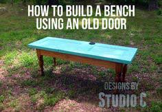 How to Build a Bench Using an Old Door