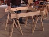 Space-Saving Sawhorse