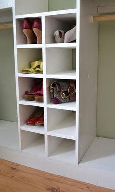 MASTER CLOSET SYSTEM SHOE CUBBIES