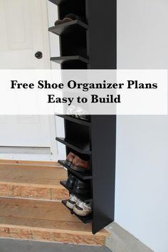 Garage Shoe Organizer Finished