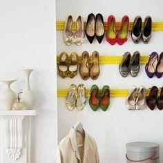 Crown Molding Shoe Rack {DIY}