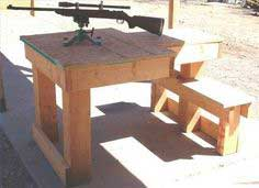 Wooden Shooting Bench