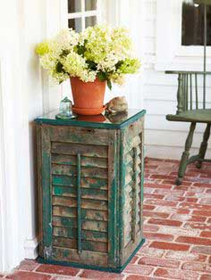 DIY Side Table - How to Build a Shutter Side Table