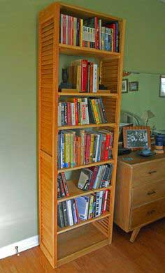 Louvered Plantation Shutter Bookcase tutorial