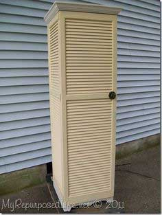 How to make a shutter cupboard out of repurposed shutters
