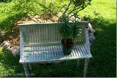 How to make a cute garden bench out of a repurposed shutter