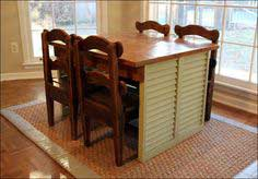 Discarded Shutters Become a Children's Dining Table