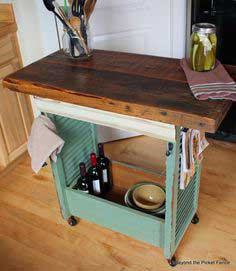 Kitchen Island Made With Shutters
