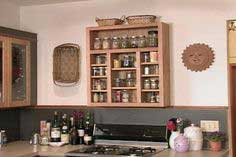 Wall-mounted spice rack