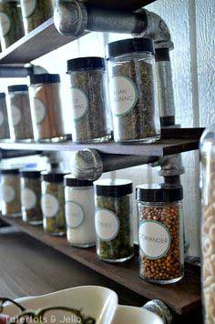 Industrial spice rack instructions