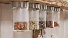 Make a hanging spice rack