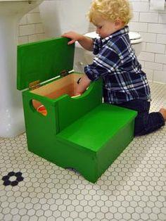 Step Stool With Built-in Storage