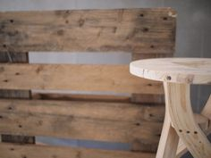 Shipping pallet stool