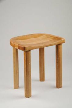 Stool with a Dished Seat