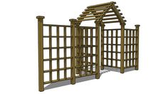 Trellis arbor with fence plans