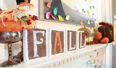 Wooden Fall Sign