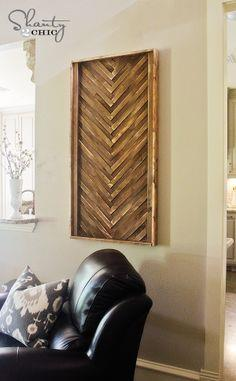 Wall Art from Wood Shims