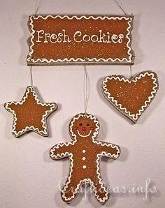 Hot and Fresh Cookies Wooden Sign for Christmas