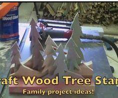 Wooden Stand of Trees -Simple Craft Projects