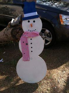 Easy Wooden Christmas Snowman