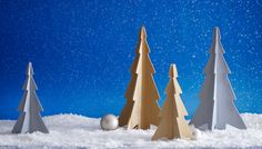 Wooden tabletop Christmas trees tutorial