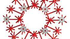 Make winter even cooler with this super-fun snowflake wreath.