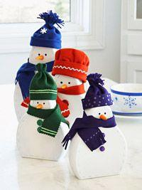 Bundled-Up Snow Family