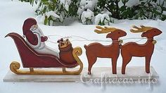 Santa Sleigh and Reindeer
