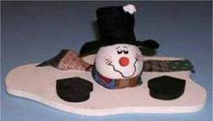 Wood Crafts - A Melting Snowman