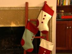 Ladder for Christmas Stocking Display