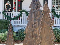 How to Make Rustic Nail-Head Christmas Trees