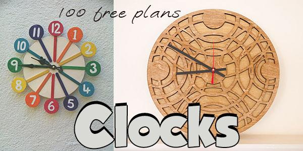 Clocks at PlansPin.com