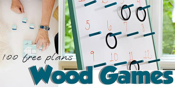 Wood Games at PlansPin.com