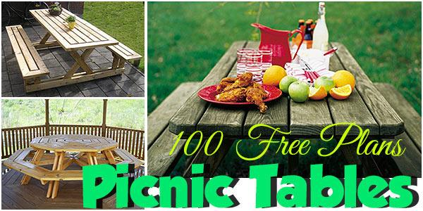 Picnic Tables at PlansPin.com